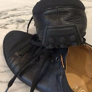 Shoes - Black leather sneakers